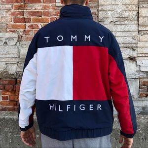 Vintage Tommy Hilfiger Big Flag Reversible Jacket